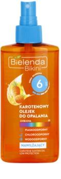Bielenda Bikini Carotene ενυδατικό αντηλιακό λάδι σε σπρέι SPF 6