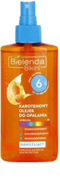 Bielenda Bikini Carotene feuchtigkeitsspendendes Öl zum Bräunen als Spray SPF 6