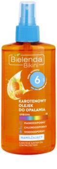 Bielenda Bikini Carotene óleo hidratante bronzeador em spray SPF 6