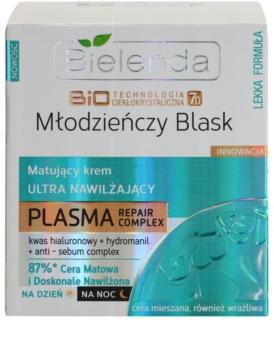 Bielenda BioTech 7D Youthful Glow mattierende Creme mit feuchtigkeitsspendender Wirkung
