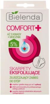 Bielenda Comfort+ meias esfoliante para suavizar e hidratar a pele dos pés