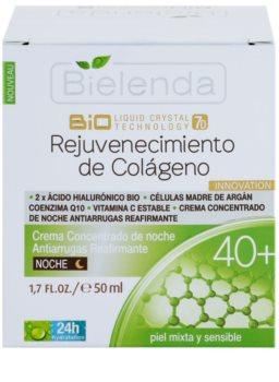 Bielenda BioTech 7D Collagen Rejuvenation 40+ Intensivcreme für die Nacht  zur Festigung der Haut