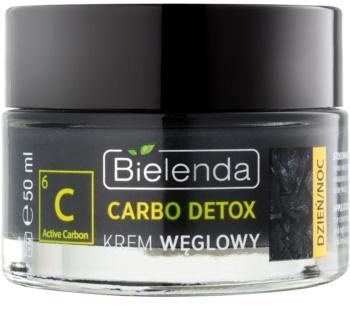 Bielenda Carbo Detox Active Carbon hidratantna matirajuća krema s aktivnim ugljenom