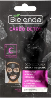 Bielenda Carbo Detox Active Carbon čisticí maska s aktivním uhlím pro zralou pleť