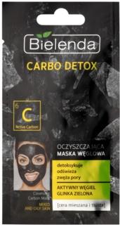 Bielenda Carbo Detox Active Carbon очищуюча маска з активованим вугіллям для комбінованої та жирної шкіри