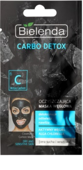 Bielenda Carbo Detox Active Carbon máscara de limpeza com carvão para pele seca a sensível