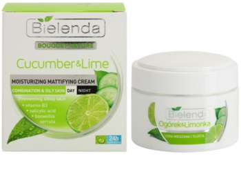 Bielenda Cucumber&Lime Hydraterende Matt Crème  voor Gemengde en Vette Huid