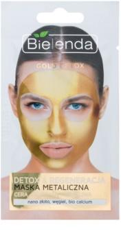 Bielenda Metallic Masks Gold Detox regeneratief en ontgiftend masker voor Rijpe Huid
