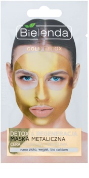 Bielenda Metallic Masks Gold Detox Regenerierende Entgiftungsmaske für reife Haut