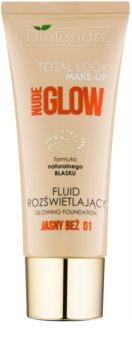 Bielenda Total Look Make-up Nude Glow rozświetlający podkład we fluidzie