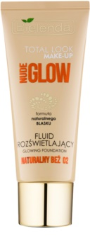 Bielenda Total Look Make-up Nude Glow posvetlitveni fluidni tekoči puder