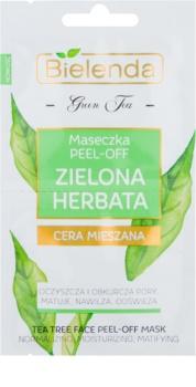 Bielenda Green Tea masque peel-off pour peaux à imperfections