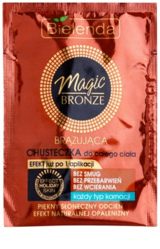 Bielenda Magic Bronze toalhete de autobronzeamento para todos os tipos de pele