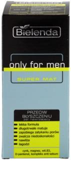 Bielenda Only for Men Super Mat gel hydratant anti-brillance et pores dilatés