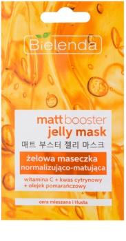Bielenda Jelly Mask Matt Booster matirajoča maska za normalizacijo kože za mastno in mešano kožo