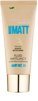 Bielenda Total Look Make-up Nude Matt тональний флюїд з матуючим ефектом