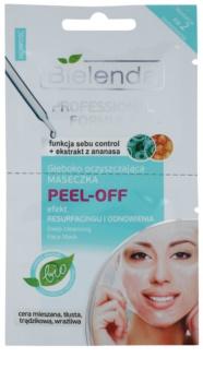 Bielenda Professional Formula masque gel peel-off pour resserrer les pores et pour un look mat