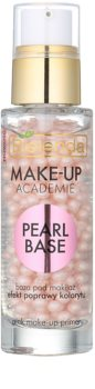 Bielenda Make-Up Academie Pearl Base primer rosa per fondotinta per un aspetto sano