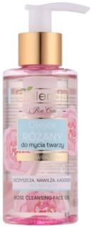 Bielenda Rose Care óleo de limpeza cor de rosa para pele sensível