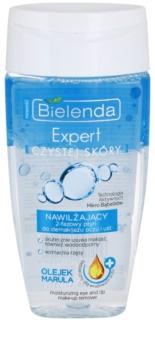 Bielenda Expert Pure Skin Moisturizing dvofazni odstranjevalec ličil za okoli oči in ustnic
