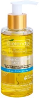 Bielenda Skin Clinic Professional Moisturizing óleo argão de limpeza  com ácido hialurónico