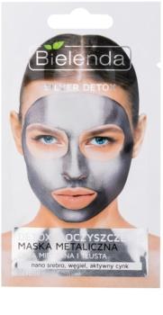 Bielenda Metallic Masks Silver Detox detoxikační a čisticí maska pro mastnou a smíšenou pleť