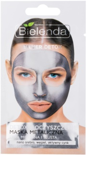 Bielenda Metallic Masks Silver Detox Entgiftende Reinigungsmaske für fettige und Mischhaut