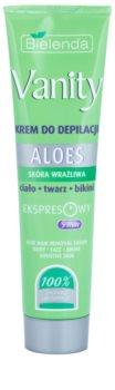 Bielenda Vanity Aloe Enthaarungscreme für empfindliche Oberhaut