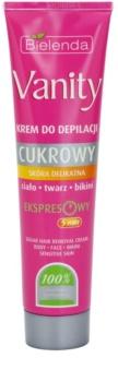 Bielenda Vanity Sugar Enthaarungscreme für empfindliche Oberhaut