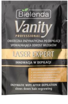 Bielenda Vanity Laser Expert lingette aux enzymes pour ralentir la repousse des poils après dépilation