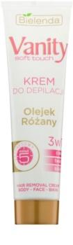 Bielenda Vanity Soft Touch creme depilatório para pele seca