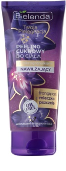 Bielenda Your Care Frangipani & Royal Jelly tělový peeling s cukrem pro hydrataci a vypnutí pokožky