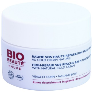 Bio Beauté by Nuxe High Nutrition SOS regeneráló balzsam az érzékeny bőrre cold cream
