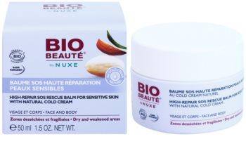 Bio Beauté by Nuxe High Nutrition SOS regeneračný balzam pre citlivú pokožku s obsahom cold cream