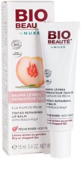 Bio Beauté by Nuxe Lips regenerační balzám na rty s broskvovou dužinou