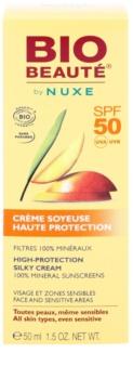 Bio Beauté by Nuxe Sun Care creme protetor mineral para as áreas do rosto e sensíveis SPF50