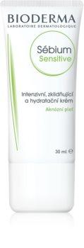 Bioderma Sébium Sensitive intenzíven hidratáló és nyugtató krém a pattanások kezelése által kiszárított és irritált bőrre