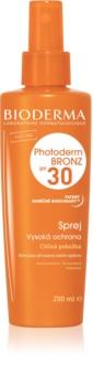 Bioderma Photoderm Bronz προστατευτικό σπρέι για υποστήριξη και παράταση φυσικού μαυρίσματος SPF 30