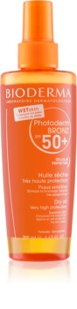 Bioderma Photoderm Bronz захисна суха олійка у формі спрею SPF50+