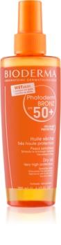 Bioderma Photoderm Bronz zaščitno suho olje v pršilu SPF 50+