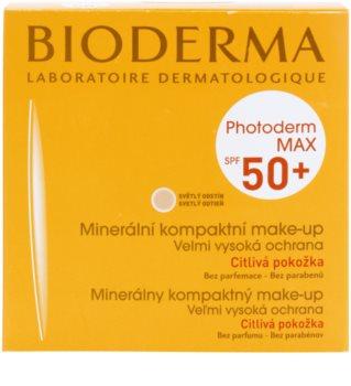 Bioderma Photoderm Max mineralni zaščitni tekoči puder za netolerantno kožo SPF 50+
