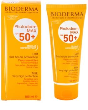Bioderma Photoderm Max молочко для засмаги для інтолерантної шкіри SPF 50+