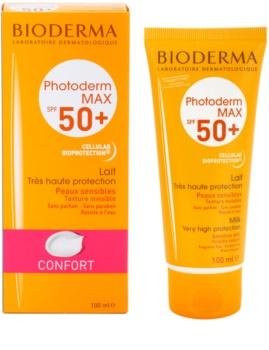 Bioderma Photoderm Max leite solar para pele intolerante SPF 50+