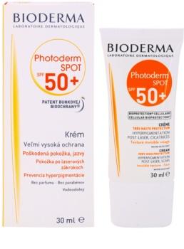 Bioderma Photoderm Spot crema de protectie solara impotriva petelor  intunecate SPF50+