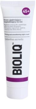 Bioliq 45+ noćna krema za lifting i učvršćivanje za zaglađivanje kontura