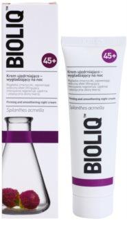 Bioliq 45+ liftingový a zpevňující noční krém pro vyhlazení kontur