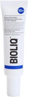 Bioliq 55+ intenzivna lifting krema za nežno kožo okoli oči, ustnic, vratu in dekolteja