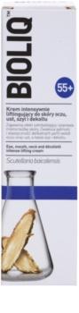 Bioliq 55+ crema de lifting intensa para la piel delicada de contorno de ojos, labios, cuello y escote