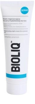 Bioliq Dermo creme de noite regenerador  para pele acneica