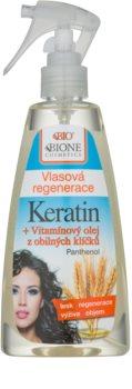 Bione Cosmetics Keratin Grain öblítést nem igénylő hajkúra spray -ben